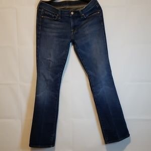7 for all man kind Women's bootcut jeans size 30